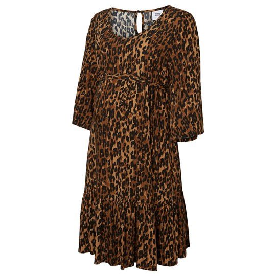 Mamalicious Leopard Woven Above Knee Dress