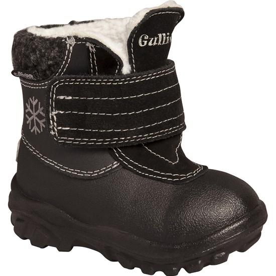 813d45014e9 Bootsen från Gulliver är vinterfodrade skor för de allra minsta fötterna.  De ger fin stadga åt den lilla personen som precis har börjat gå och ett  värmande ...