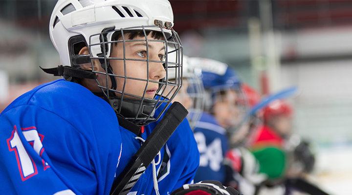 hockeyhjalmen for barn