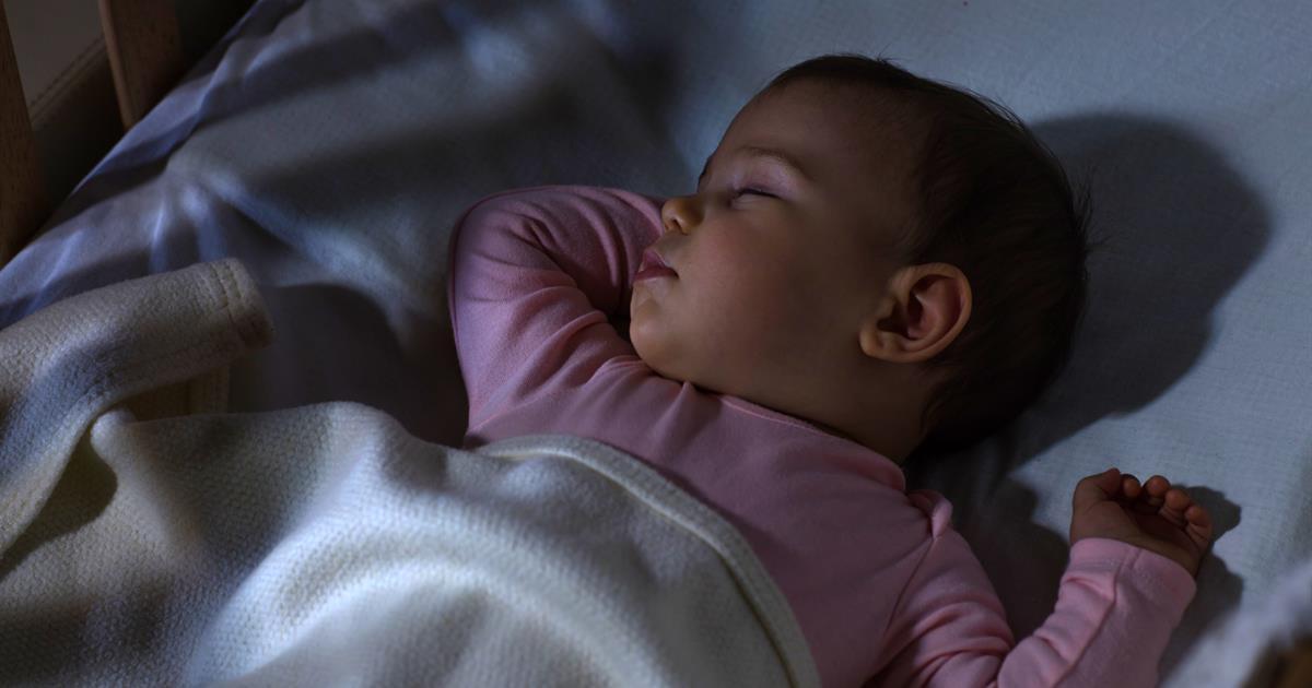 Nar borjar bebisar sova langre pa natten