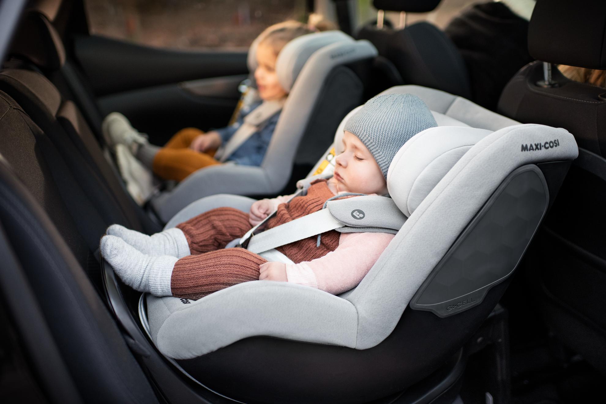 Nar ar det dags att byta fran babyskydd till bilbarnstol